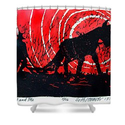 Jezebel And Me Shower Curtain by Seth Weaver