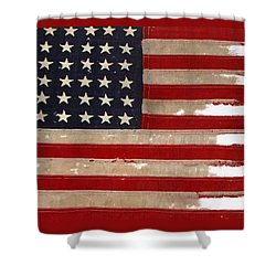 Jfk's Pt-109 Flag Shower Curtain