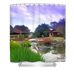 Shower Curtain featuring the photograph Jg-0021 Kotaji Lantern by Digital Oil