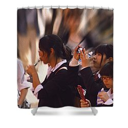 Jidai Matsuri Vii Shower Curtain by Cassandra Buckley