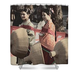 Jidai Matsuri Xi Shower Curtain by Cassandra Buckley