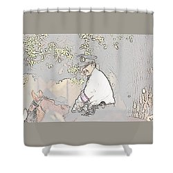 Jidai Matsuri Xx Shower Curtain by Cassandra Buckley
