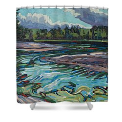 Jim Afternoon Rapids Shower Curtain