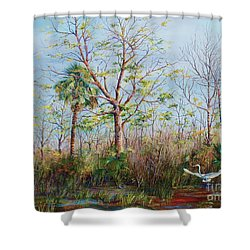 Jim Creek Lift Off Shower Curtain