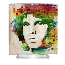 Jim Morrison Colorful Portrait Shower Curtain