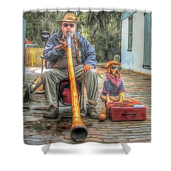 Shower Curtain featuring the photograph Jim Olds And Tanner by Marion Johnson
