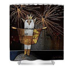 Jim The God Of July Shower Curtain by Joan Ladendorf