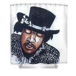 Jimi Hendrix Shower Curtain by Emmanuel Baliyanga