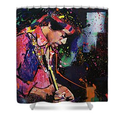 Jimi Hendrix II Shower Curtain