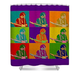 Jimi Hendrix In The Style Of Andy Warhol Shower Curtain