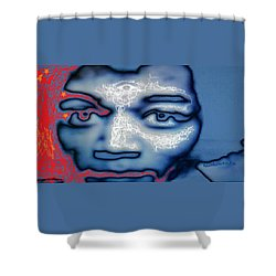 Jimi Hendrix Oh Say, Can You See The Rockets Red Glare Shower Curtain