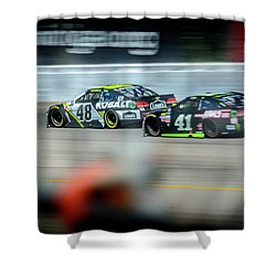 Jimmie Johnson Charging Ahead At Mis Shower Curtain