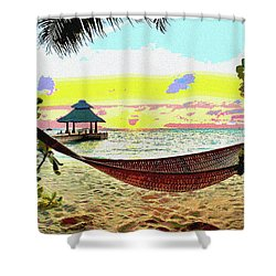 Jimmy Buffett's Margaritaville Shower Curtain by Charles Shoup