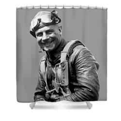 Jimmy Doolittle Shower Curtain by War Is Hell Store