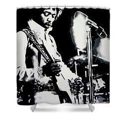 Jimmy Hendrix Purple Haze Shower Curtain