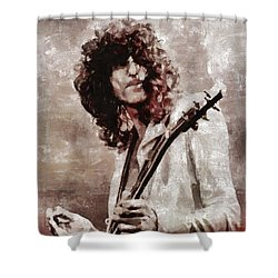 Jimmy Page By Mary Bassett Shower Curtain