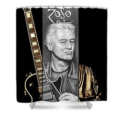Jimmy Page Drawing Shower Curtain