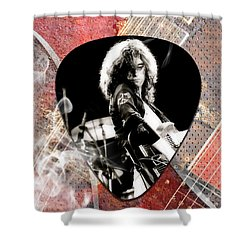 Jimmy Page Led Zeppelin Art Shower Curtain