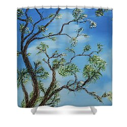 Jim's Tree Shower Curtain