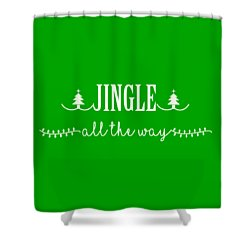 Shower Curtain featuring the digital art Jingle All The Way by Heidi Hermes