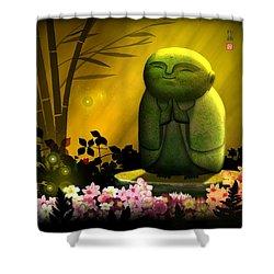 Jizo Bodhisattva Shower Curtain