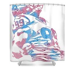 Jj Watt Houston Texans Water Color Art 1 Shower Curtain