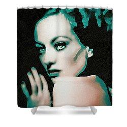 Joan Crawford - Pop Art Shower Curtain