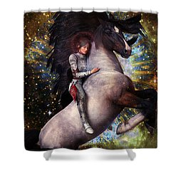 Joan Of Arc 2 Shower Curtain by Suzanne Silvir
