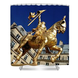 Joan Of Arc - Paris Shower Curtain by Therese Alcorn