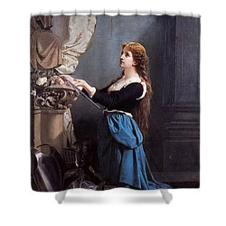 Joan Of Arc  Shower Curtain by Photo Researchers
