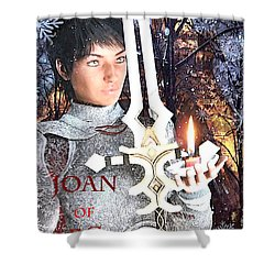 Joan Of Arc Poster 2 Shower Curtain by Suzanne Silvir