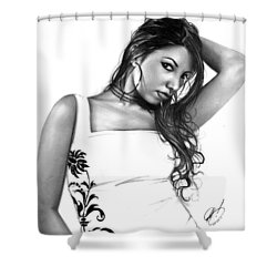 Joanna Shower Curtain by Pete Tapang