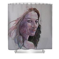 Joanna Shower Curtain by Ray Agius