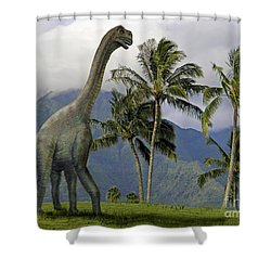 Jobaria In Meadow Shower Curtain by Frank Wilson