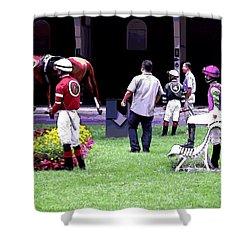Jockeys Painting Shower Curtain