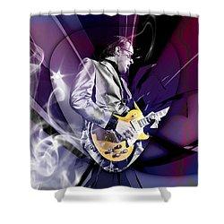 Joe Bonamassa Blues Guitarist Art Shower Curtain by Marvin Blaine