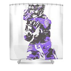 Joe Flacco Baltimore Ravens Pixel Art 6 Shower Curtain