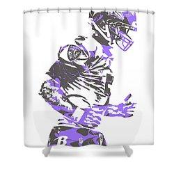 Joe Flacco Baltimore Ravens Pixel Art 8 Shower Curtain