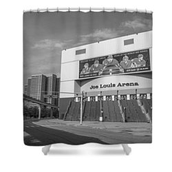 Joe Louis Arena Black And White  Shower Curtain
