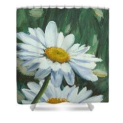 Joe's Daisies Shower Curtain by Lea Novak