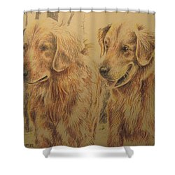 Joe's Dogs Shower Curtain