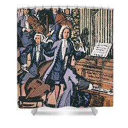 Johann Sebastian Bach, 1732 Shower Curtain by Granger