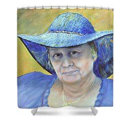 Shower Curtain featuring the painting Johanna by Luczay