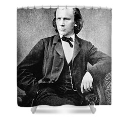 Johannes Brahms, German Composer Shower Curtain by Omikron