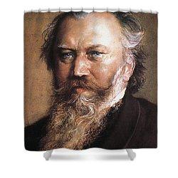 Johannes Brahms Shower Curtain by Granger