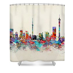 Johannesburg South Africa Skyline Shower Curtain