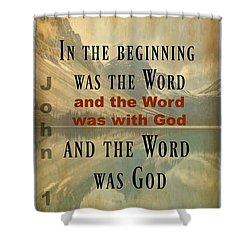 John 1 1 Shower Curtain