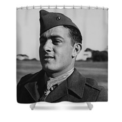 John Basilone Shower Curtain by War Is Hell Store