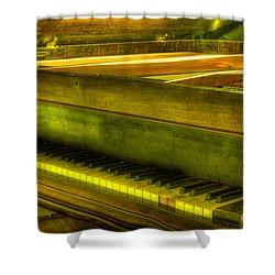 John Broadwood And Sons Piano Shower Curtain