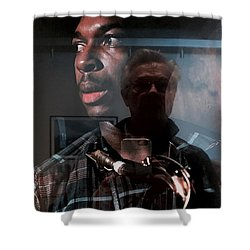 John Coltrane And Me Shower Curtain